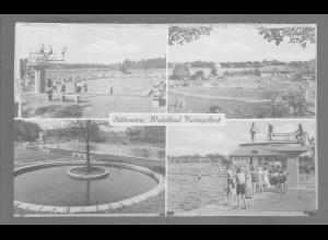 Neg6147/ Sittensen Waldbad Königshof altes Negativ 50er Jahre