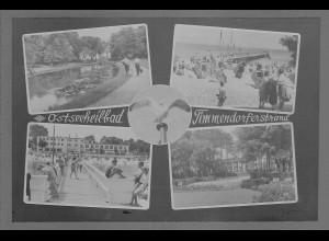 Neg6154/ Ostseebad Timmendorferstrand altes Negativ 50/60er Jahre