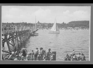 Neg6156/ Ostseebad Timmendorferstrand Seebrücke altes Negativ 50/60er Jahre