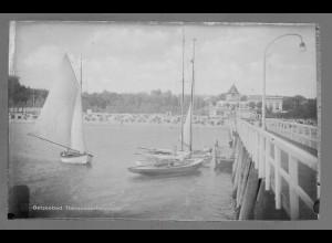 Neg6157/ Ostseebad Timmendorferstrand Seebrücke altes Negativ 50/60er Jahre