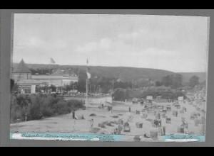 Neg6160/ Ostseebad Timmendorferstrand Strandhalle altes Negativ 50er Jahre