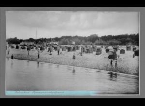 Neg6163/ Ostseebad Timmendorferstrand altes Negativ 50er Jahre
