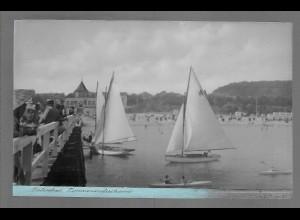 Neg6165/ Ostseebad Timmendorferstrand Landungsbrücke altes Negativ 50er Jahre