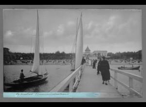 Neg6166/ Ostseebad Timmendorferstrand Landungsbrücke altes Negativ 50er Jahre