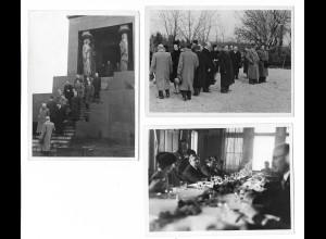 Y19575/ 3 x Foto Avala Serbien 26.2.1941 Denkmal des unbekannten Soldaten