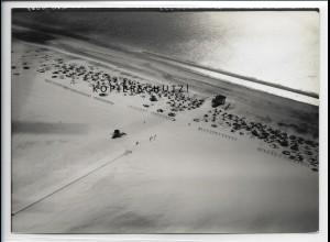 ZZ-5069/ St. Peter Ording Badestrand Foto seltenes Luftbild 1939 18 x 13 cm