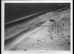 ZZ-5070/ St. Peter Ording Badestrand Foto seltenes Luftbild 1939 18 x 13 cm