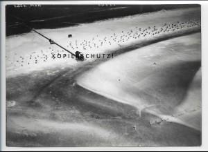 ZZ-5072/ St. Peter Ording Badestrand Foto seltenes Luftbild 1939 18 x 13 cm