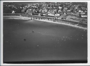 ZZ-5073/ Nordseebad Büsum Foto seltenes Luftbild 1939 18 x 13 cm