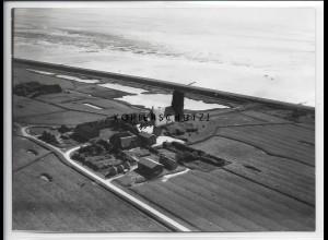 ZZ-5074/ Pellworm alte Kirche Foto seltenes Luftbild 1939 18 x 13 cm