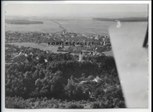 ZZ-5181/ Unterkirchberg bei Ulm Foto seltenes Luftbild 18 x 13 cm ca.1938