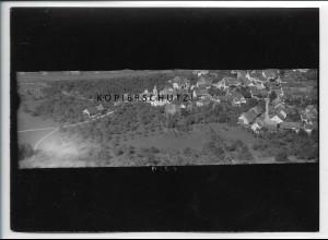 ZZ-5081/ Oberlauchringen bei Tiengen Foto seltenes Luftbild ca.1938 18 x 13 cm