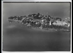 ZZ-5084/ Chiemsee Fraueninsel Foto seltenes Luftbild 1937 18 x 13 cm