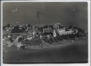 ZZ-5083/ Chiemsee Fraueninsel Foto seltenes Luftbild ca.1938 18 x 13 cm