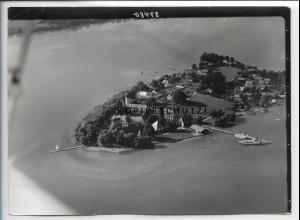 ZZ-5085/ Chiemsee Fraueninsel Foto seltenes Luftbild 1937 18 x 13 cm