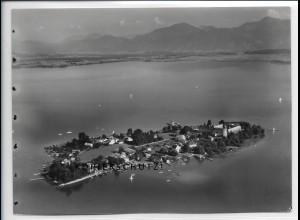 ZZ-5086/ Chiemsee Fraueninsel Foto seltenes Luftbild 1937 18 x 13 cm