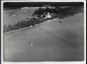 ZZ-5097/ Arlaching Chieming am Chiemsee Foto seltenes Luftbild ca.1936 18 x 13cm