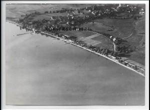 ZZ-5098/ Chieming am Chiemsee Foto seltenes Luftbild ca.1936 18 x 13cm