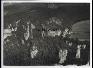ZZ-5287/ Burg Wildenstein bei Beuron Foto seltenes Luftbild 18 x 13 cm 1939