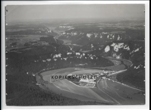 ZZ-5088/ Beuron Foto seltenes Luftbild 1934 18 x 13 cm
