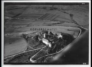 ZZ-5091/ Neuhaus b. Mergentheim Foto seltenes Luftbild 1934 18 x 13 cm