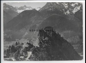 ZZ-5458/ Ruine Falkenstein seltenes Foto Luftbild 18 x 13 cm 1938
