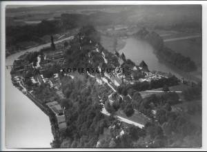 ZZ-5284/ Burghausen Foto seltenes Luftbild 18 x 13 cm 1938