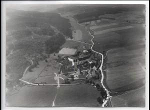 ZZ-5060/ Oberschönenfeld Gessertshausen Foto seltenes Luftbild 1938 18 x 13 cm