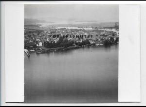 ZZ-5058/ Konstanz Foto seltenes Luftbild 1934 18 x 13 cm