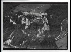 ZZ-5057/ Schloß Werenwag bei Beuron Foto seltenes Luftbild ca.1938 18 x 13 cm