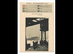 C4526/ KdF Schiff fährt nach Madeira Karte zum Ausschneiden 1937