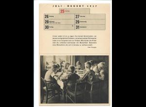 C4527/ Kinder - Acht wollen satt werden. Karte zum Ausschneiden 1937