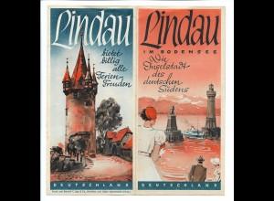 C4517/ Lindau Bodensee Faltblatt Prospekt 30/40er Jahre