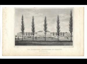 C4520/ Stahlstich C. A. Lill Hamburg Allgemeine Krankenhaus ca.1845