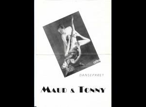 C4506/ Maud & Tonny Danseparet Variete DIN A 4 Blatt 40/50er Jahre Tanzen
