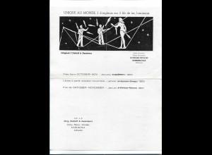 C4508/ 3 Dettloff & Assistenz aus Schweden Jongleure Variete Zirkus 1953