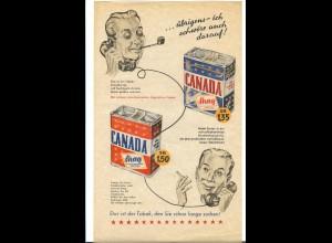 C4511/ Canada Shag Tabak Werbeblatt 30 x 18 cm 50er Jahre