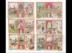 Y19869/ 6er Serie Liebig-Bilder Serie No. 688 Materialen III. 1906