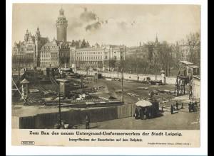 C4491/ Leipzig Bau des Untergrund-Umformerwerkes Roßplatz ca.1925 Bilderdienst