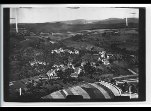 ZZ-5137/ Nassach - Spiegelberg Foto seltenes Luftbild 18 x 12 1939