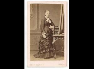Y19622/ CDV junge Frau Foto Theodor Vehling, Hamburg ca. 1880