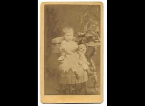 Y19647/ CDV Junge mit Hund Foto C. Ohle, Heide & Wesselburen ca.1880