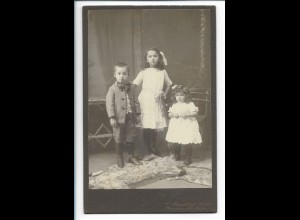 Y19652/ Kabinettfoto Kinder Geschwister Foto Krauskopf, Radevormwalde ca.1910