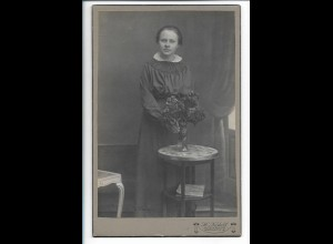 Y19674/ Kabinettfoto junge Frau Foto H. Nedell, Apenrade ca.1910