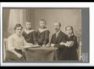 Y19912/ Kabinettfoto Familie Atelier Stein, Berlin ca.1905