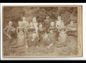 Y19686/ Kabinettfoto Gruppenfoto Foto Ferd. Lavorenze, Uetersen 1901