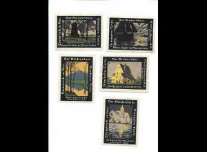 Y19705/ 5 x Reklamemarke Gimborn-Tinte Emmerich, Der Niederrhein ca. 1912