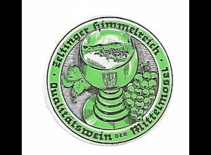 Y19707/ Reklamemarke Zeltinger Himmelreich Wein der Mittelmosel ca.1925