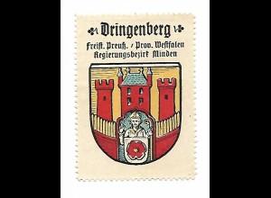 Y19715/ Reklamemarke Dringenberg Bz. Minden Wappen ca.1912