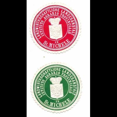 Y19737/ 2 x Siegelmarke St. Michele Südtirol Instituto Agrario Provinciale